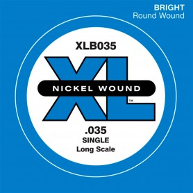 D'Addario Nickel Wound Single Bass String XLB 035
