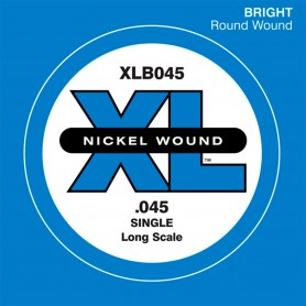 D'Addario Nickel Wound Single Bass String XLB 045