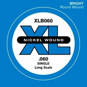 Corda solta Baix D'Addario Nickel XLB 060