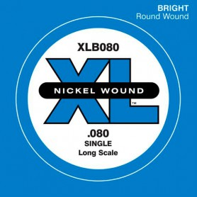 D'Addario Nickel Wound Single Bass String XLB 080