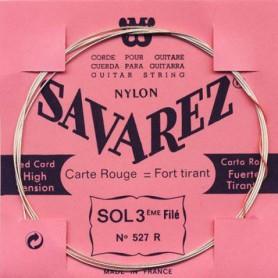 Cuerda Suelta Clásica Savarez 527R G 3ª Entorchada