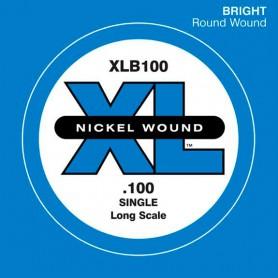 D'Addario Nickel Wound Single Bass String XLB 100