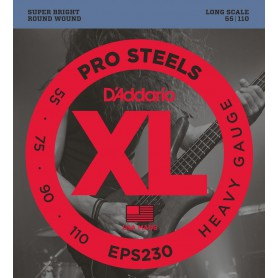 D´Addario EPS230 Pro Steels 55-110 Heavy Gauge Bass Strings