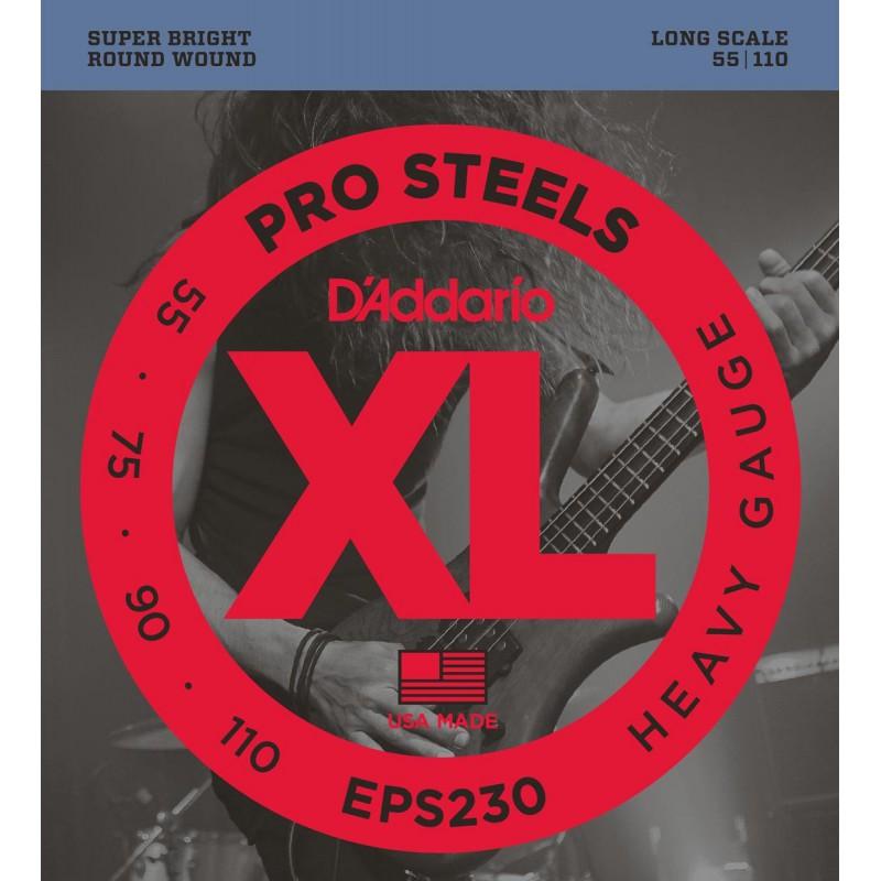 Cuerdas Bajo D´Addario EPS230 Pro Steels 55-110 Heavy Gauge