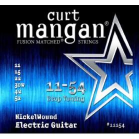 Cuerdas Eléctrica Curt Mangan 11-54 Nickel Wound Drop Tuning