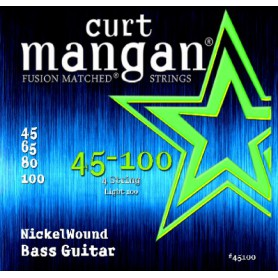 Cuerdas Bajo Curt Mangan Nickel Wound 45-100 Fusion Matched