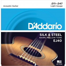 D´Addario EJ 40 Silk & Steel Acoustic Strings 11-47
