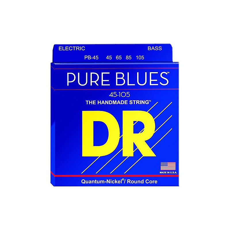 DR Strings Pure Blues 45-100 Medium Lite