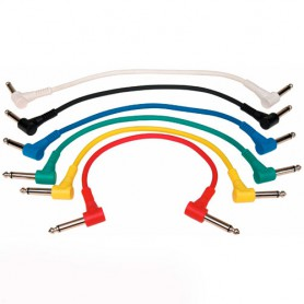 Cable Patch Rockcable per Pedals 30 cm. Pack de 6 unitats.