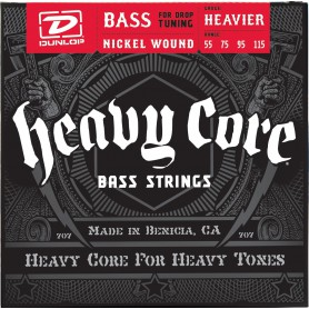 Cuerdas Bajo Dunlop Heavy Core 55-115