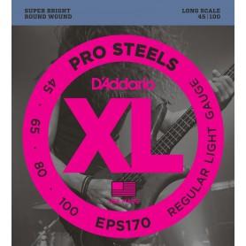 Cuerdas Bajo D´Addario EPS170 Pro Steels 45-100-100