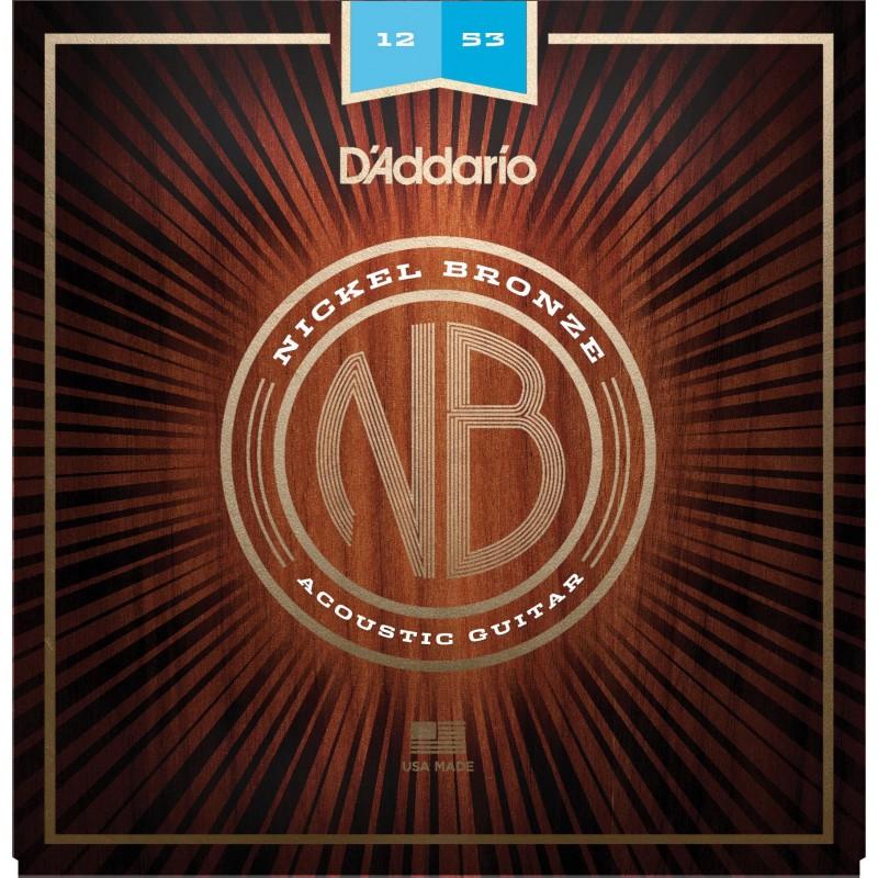 Cordes Acústica D´Addario Nickel Bronze NB1256 12-56