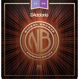 Cordes Acústica D´Addario Nickel Bronze NB1152 11-52