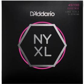 Cuerdas Bajo D'Addario NYXL 45-130 5 Strings
