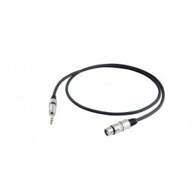 Cable de micrófono Proel STAGE330LU3 XLR Hembra-Jack 3m.