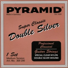 Cuerdas de Clásica Pyramid Super Classic Double Silver Fluro Carbon Normal Tension