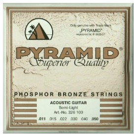 Cuerdas de Acústica Pyramid Phosphor Bronze Semi Light 11-50