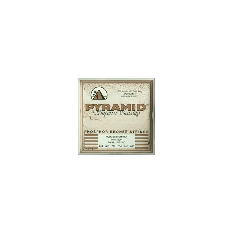 Cuerdas de Acústica Pyramid Phosphor Bronze Semi Light 11-50