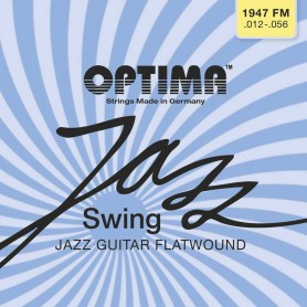 Cuerdas Eléctrica Optima Jazz Swing 1947FM Chrome Flatwound 12-56