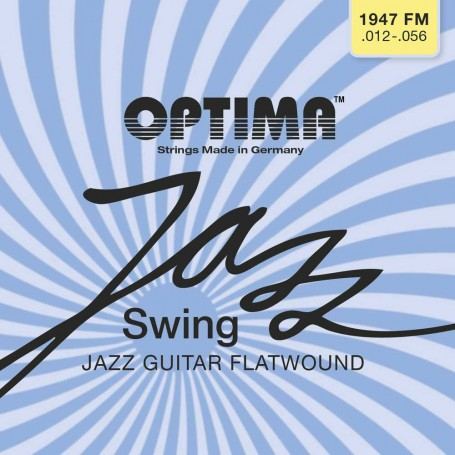 Cuerdas Eléctrica Optima Jazz Swing 1947FM Chrome Flatwound 12-56