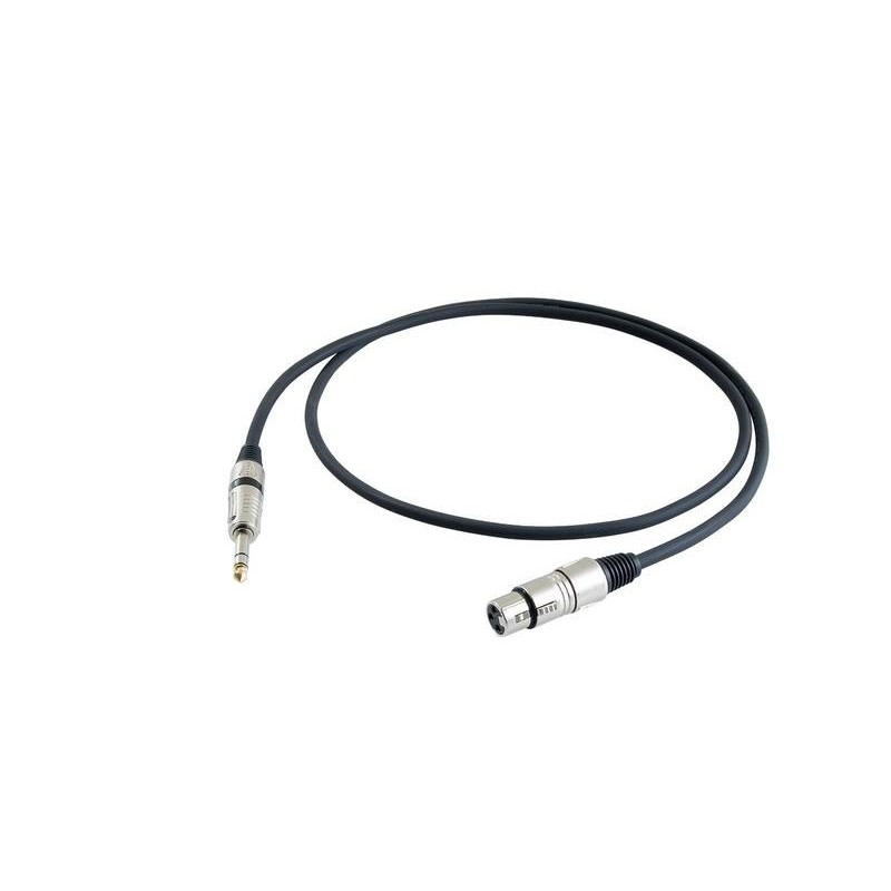 Cable de micrófono Proel BULK230LU3 Balanceado XLR-Jack 3m