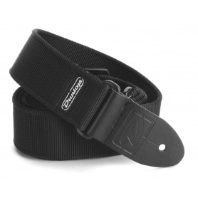 Dunlop Solid Nylon Strap Black
