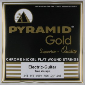 Pyramid Electric Gold Flatwound Strings 13-56