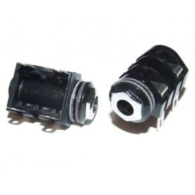 Conector Tipo Cliff 4 Contactos a Chásis Rosca de Metal