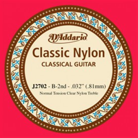 D´Addario Classical Guitar String J2702 B 2nd