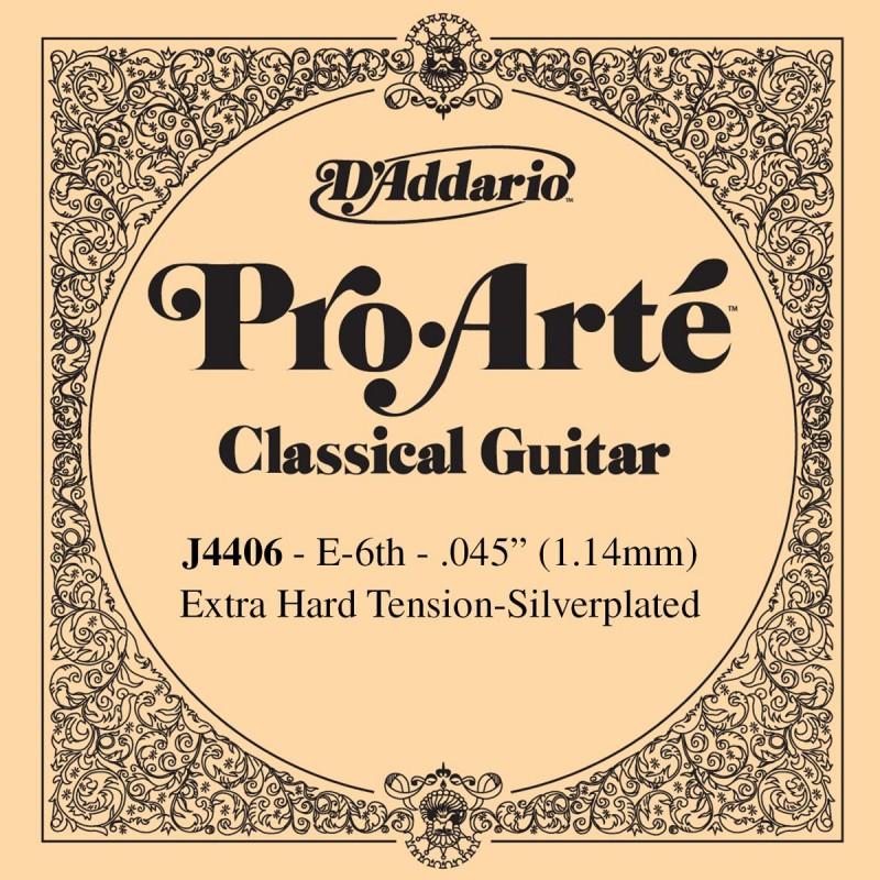 Cuerda Suelta D´Addario ProArte J4406 Extra Hard 6ª E/Mi