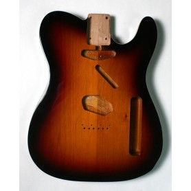 Cuerpo de guitarra Goldo tipo Tele en Aliso 3TS Double Binding