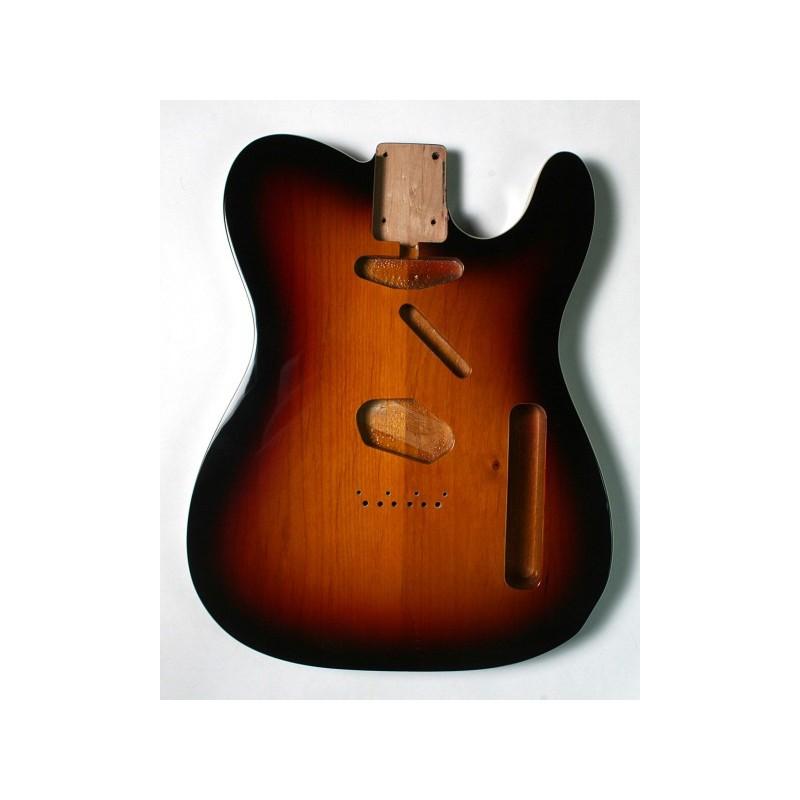 Cos de guitarra Goldo tipus Tele en Alder Candy Apple Red