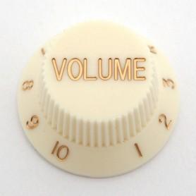Botó de Potenciòmetre de Volum Vintage White Strat