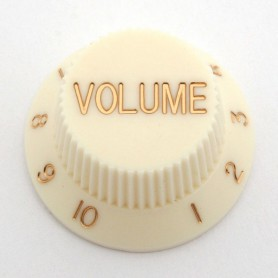 Vintage White Volume Knob for Strat