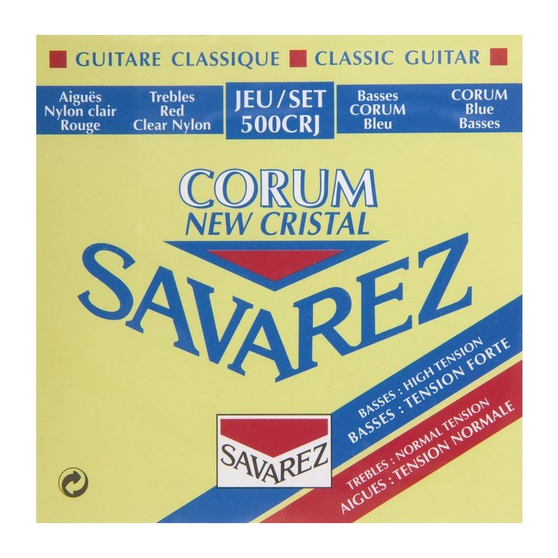 Savarez 500 CJ Rectified New Cristal Classical Guitar Strings
