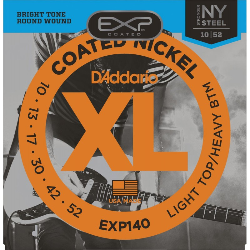 Cuerdas Eléctrica D´Addario EXP140 Coated 10-52