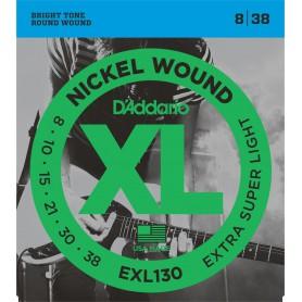 Cuerdas Eléctrica D´Addario EXL130 08-38