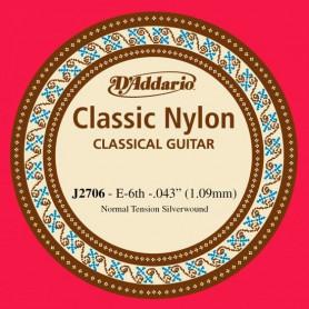 Cuerda Suelta Clásica D´Addario J2706 E/Mi 6th