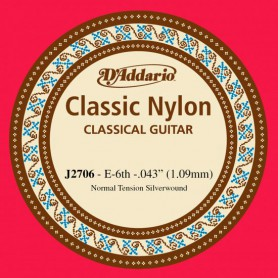 D´Addario Classical Guitar String J2706 E 6th