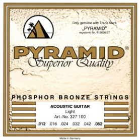 Cordes d'Acústica Pyramid Premium Phosphor Bronze Guitar Strings Light 12-52