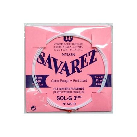 Cuerda Suelta Clásica Savarez 529R G 3ª Entorchada