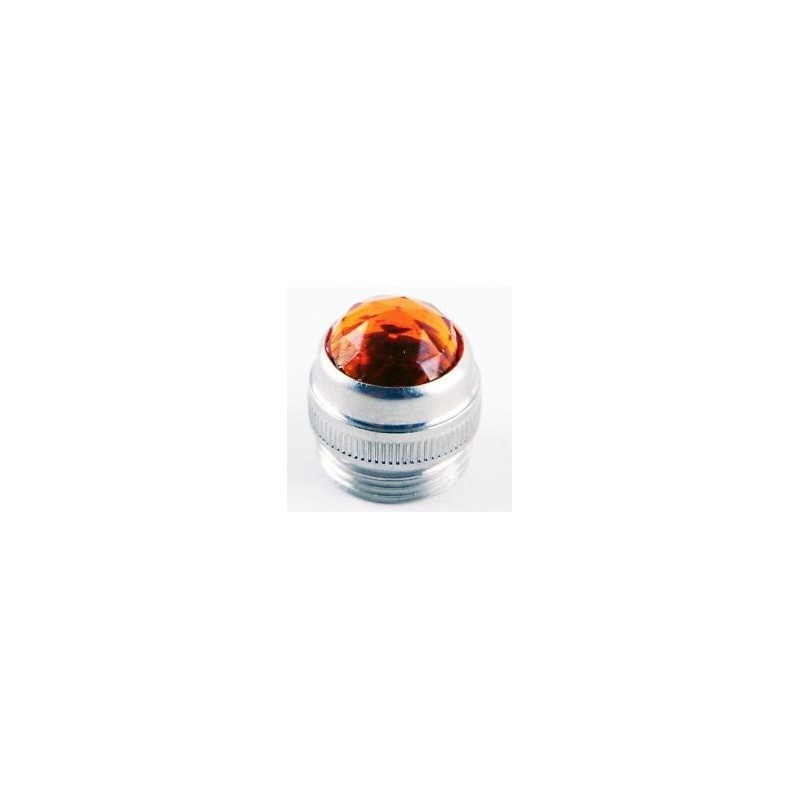 Red Pilot Light Lens Jeweled