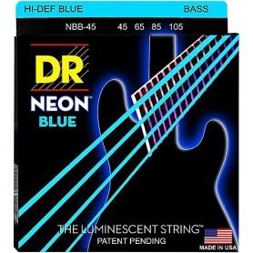 DR Neon Blue Bass Strings 45-105