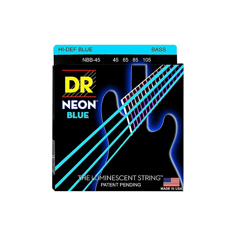 Cuerdas Bajo DR Strings Neon Blue 45-105