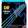 Cuerdas Bajo DR Strings Neon Blue 45-105