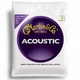 Cordes Acústica Martin 80/20 Bronze Custom Light 11-52