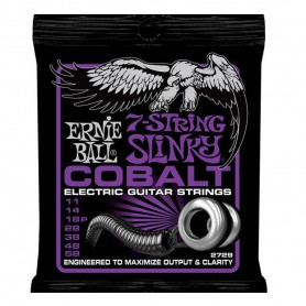 Cuerdas Eléctrica Ernie Ball 2729 Cobalt Power Slinky 11-58 7 Strings