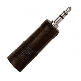 Conector Adaptador Proel AT120 hembra jack estéreo a macho mini jack estéreo