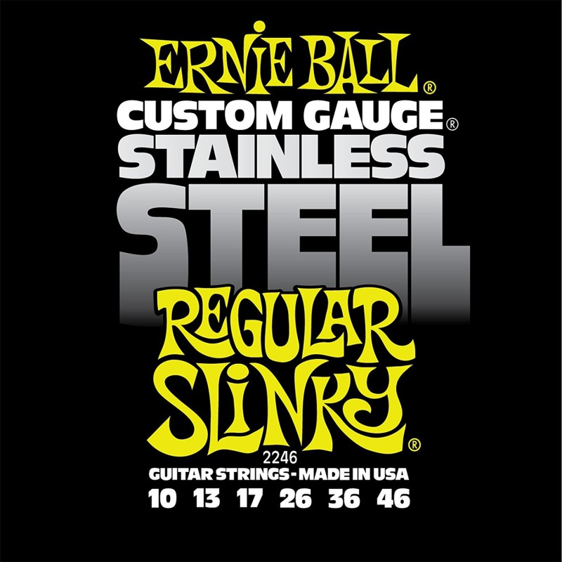Cuerdas Eléctrica Ernie Ball 2246 Stainless Regular 10-46