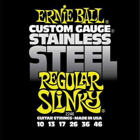 Cuerdas Eléctrica Ernie Ball 2246 Stainless Regular 10-46